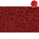 ZAICK17640-1986-91 Pontiac Grand Am Complete Carpet 7039-Dark Red/Carmine
