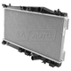 1ARAD00038-1995-99 Dodge Neon Plymouth Neon Radiator for Models with A/C & L4 2.0L (11-5/8 x 24-7/8 Core & Top Middle Fan Mounts 3-1/4 inches Apart)
