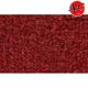 ZAICK07285-1974 Chevy C20 Truck Complete Carpet 7039-Dark Red/Carmine