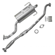 1AEMK00166-Subaru Legacy Complete Cat Back Exhaust System