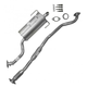 1AEMK00167-2004 Subaru Legacy Complete Cat Back Exhaust System