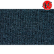 ZAICK07534-1990-91 Chevy R3500 Truck Complete Carpet 4033-Midnight Blue