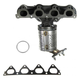 1AEMK00182-Honda Civic Civic Del Sol Exhaust Manifold with Catalytic Converter & Gasket Kit