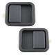 1ADHS00095-Jeep Exterior Door Handle Pair Flat Black