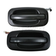 1ADHS00104-Exterior Door Handle Rear Pair Black