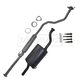 1AEMK00089-1994-01 Acura Integra Complete Cat Back Exhaust System