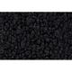 ZAICK07998-1965 International Pickup Passenger Area Carpet 01-Black