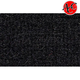 ZAICC00757-1974-75 Jeep CJ5 Cargo Area Carpet 801-Black