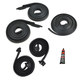 1AWSK00183-1966-67 Door  Roofrail  and Trunk Seal Kit w/ Adhesive