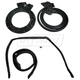 1AWSK00104-1978-87 Chevy El Camino GMC Caballero Door and Roof Rail Weatherstrip Seal Kit  Fairchild Automotive KG3140  KG3136
