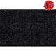 ZAICF00834-1995-97 Isuzu Rodeo Passenger Area Carpet 801-Black