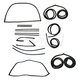 1AWSK00037-1967-72 Complete Weatherstrip Seal Kit