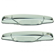 1ADHS00217-Exterior Door Handle Pair Chrome