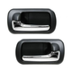 1ADHS00858-2001-05 Honda Civic Interior Door Handle Rear Pair