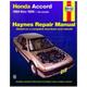 1AMNL00092-1984-89 Honda Accord Haynes Repair Manual