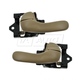 1ADHS00795-Chevy Impala Monte Carlo Interior Door Handle Pair Oak