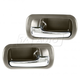 1ADHS00775-2001-05 Honda Civic Interior Door Handle Rear Pair Chrome Brown