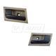 1ADHS00753-2006-11 Interior Door Handle Pair Black Stone