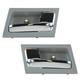 1ADHS00750-Interior Door Handle Pair Chrome Flint