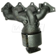 1AEEM00646-2002-04 Kia Spectra Exhaust Manifold with Catalytic Converter Assembly