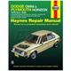 1AMNL00191-1978-90 Dodge Omni Plymouth Horizon Haynes Repair Manual