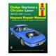 1AMNL00192-1984-89 Chrysler Laser Dodge Daytona Haynes Repair Manual