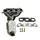1AEEM00736-Kia Rio Rio Cinco Exhaust Manifold with Catalytic Converter & Gasket Kit