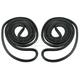 1AWSD00199-1966-67 Chevy El Camino Door Weatherstrip Seal