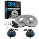 1ABMS00021-Wheel Hub & Bearing Pair with CERAMIC Brake Pads & Rotors Set Front