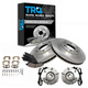 1ABMS00022-Wheel Hub & Bearing Pair with CERAMIC Brake Pads & Rotors Set Front