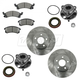 1ABMS00024-Wheel Hub & Bearing Pair with CERAMIC Brake Pads & Rotors Set
