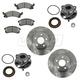 1ABMS00024-Brake Pad  Rotor & Wheel Bearing Kit
