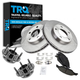 1ABMS00025-1999-04 Ford Mustang Wheel Hub & Bearing Pair with CERAMIC Brake Pads & Rotors Set Front