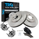 1ABMS00028-Ford Mustang Wheel Hub & Bearing Pair with CERAMIC Brake Pads & Rotors Set Front