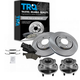 1ABMS00029-Wheel Hub & Bearing Pair with CERAMIC Brake Pads & Rotors Set