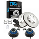 1ABMS00011-Wheel Hub & Bearing Pair with CERAMIC Brake Pads & Rotors Set Front