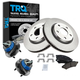 1ABMS00019-Brake Pad  Rotor & Wheel Bearing Kit Front