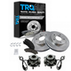 1ABMS00015-Wheel Hub & Bearing Pair with CERAMIC Brake Pads & Rotors Set Front