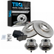 1ABMS00012-Wheel Hub & Bearing Pair with CERAMIC Brake Pads & Rotors Set Front