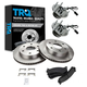 1ABMS00007-Wheel Hub & Bearing Pair with CERAMIC Brake Pads & Rotors Set Front