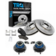 1ABMS00003-Wheel Hub & Bearing Pair with CERAMIC Brake Pads & Rotors Set