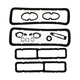1ABGS00046-1967 Chevy Camaro Paint Gasket Set