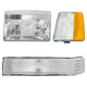 1ALHT00008-1993-96 Jeep Grand Cherokee Headlight  Corner Light  and Parking Light Kit Driver Side