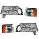 1ALHT00038-1997-99 Cadillac Deville Headlight and Corner Light Kit