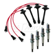 1AETK00013-Toyota Camry Rav4 Solara Spark Plugs & Ignition Wires Kit
