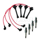 1AETK00014-Spark Plugs & Ignition Wires Kit