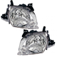 1ALHP01078-2002-03 Mazda MPV Headlight Pair