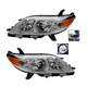 1ALHP01057-Toyota Sienna Headlight Pair
