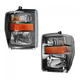 1ALHP01043-2008-10 Ford Headlight Pair