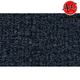 ZAICK14449-1982-86 Nissan Sentra Complete Carpet 7130-Dark Blue